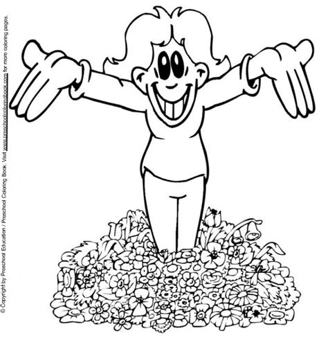 free coloring pages of spring for preschool