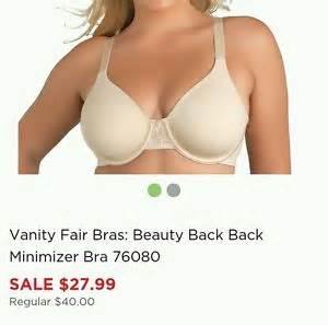 Vanity Fair Bras Minimizer Vanity Fair Back Minimizer Bra 76080 Size 42dd