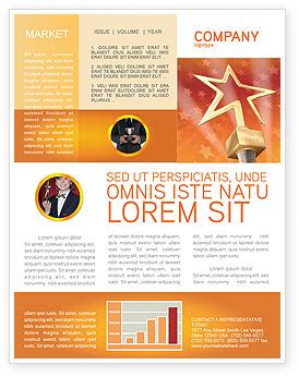 star of the best newsletter template for microsoft word