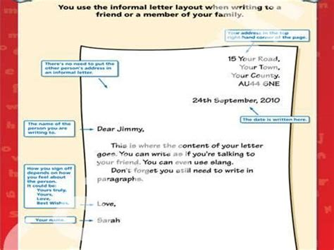 informal letter examples ks teaching resources