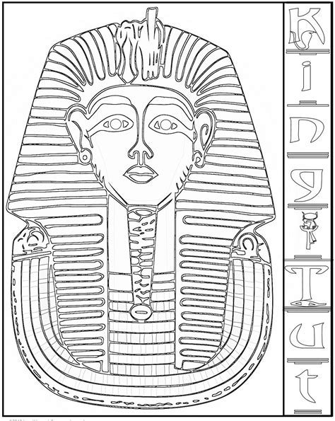King Tut Coloring Pages ancient civilizations