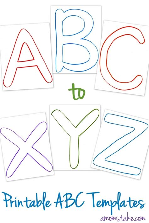 printable alphabet book template free abc printable templates a mom s take