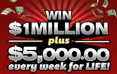Win 1 Million Dollars Instantly - enter to win 5 000 a week for life and 1 million dollars