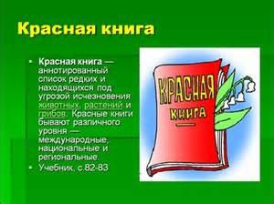 презентацию красная книга россии 4 класс