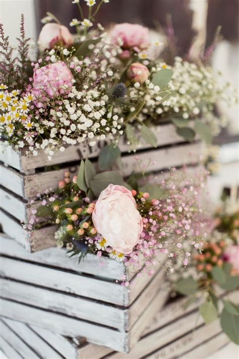 country garden wedding flowers 60 rustic country wooden crates wedding ideas deer pearl