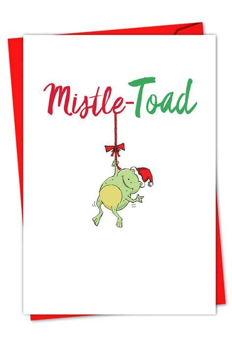pun  christmas frog creative christmas card