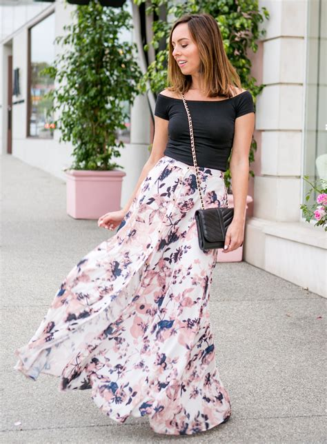 top ideas day to night in a floral maxi skirt 2017 fashion trends