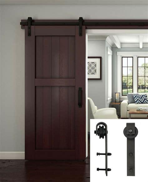 sliding door closet hardware 2 meter sliding barn door hardware track set interior closet rollers rail steel ebay