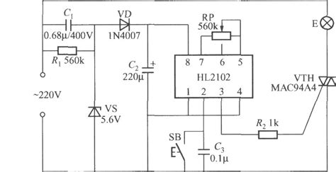 integrated light circuit delay light circuit with special integrated circuit control circuit circuit diagram seekic