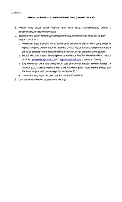 surat undangan festival budaya dan tik desa panjalu 2013