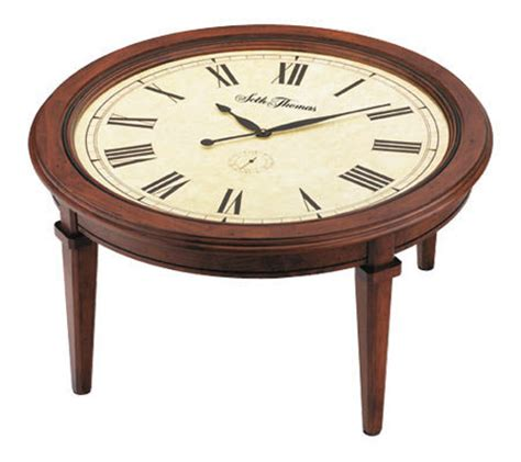 Clock Coffee Table Seth Walnut Finish Coffee Table Clock Qvc
