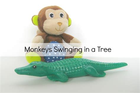3 little monkeys swinging in a tree your crafty friend nursery music time bag