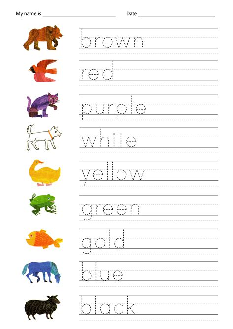 color worksheets name trace worksheet as writing devise kiddo shelter
