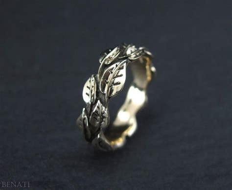 Wedding Rings Leaves by Wedding Leaf Ring Gold Leaf Wedding Band Handmade Gold