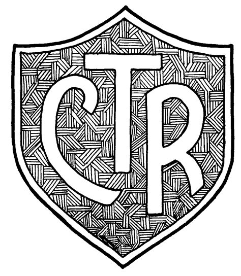 Ctr Shield Coloring Page Az Coloring Pages Ctr Coloring Page
