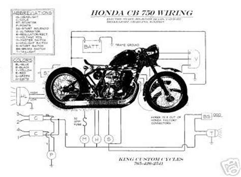 find honda cb750 550 450 350 chopper wiring schematic easy