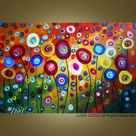 painting ideas for kids custom dancing poppies original modern abstract by