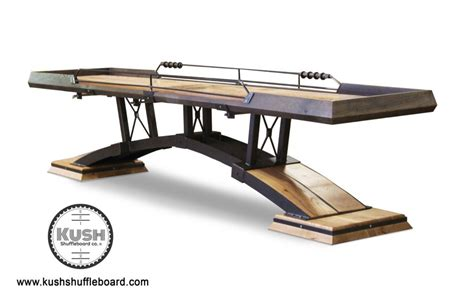 what is a regulation shuffleboard table length artisan shuffleboard table the industrial farmhouse