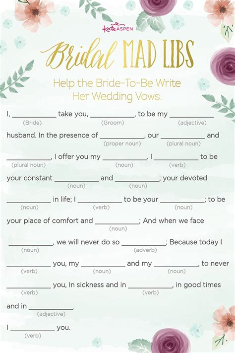 exciting bridal shower games printables kate aspen