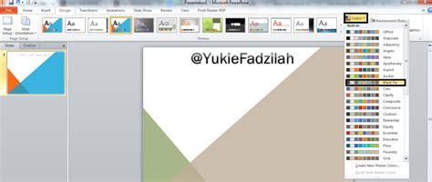 pengaturan layout presentasi cara mengganti tema power point agar lebih menarik