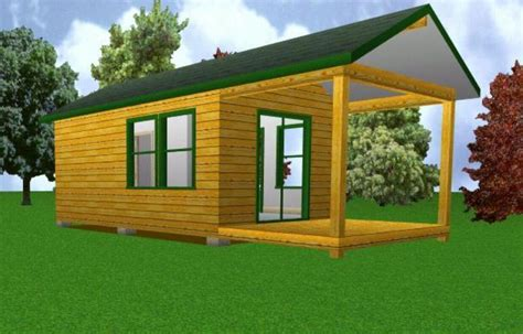 12x20 starter cabin w covered porch plans package blueprints material list ebay