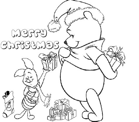 winnie the pooh christmas coloring pages learn to coloring