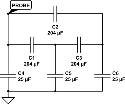 parallel capacitor equivalent capacitance node calculation electrical engineering stack exchange