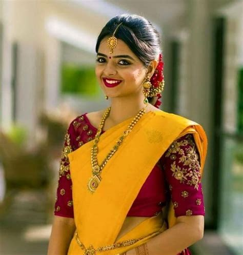 Simple Etnic Blous 166 best images about simple pattu sarees with jewelry on silk sarees