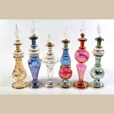 Handmade Perfume Bottles - set of 6 pieces of small handmade perfume bottles