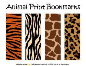 Animal Print Templates by Free Printable Animal Print Bookmarks The Patterns