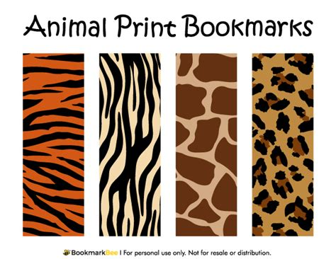 animal print templates free printable animal print bookmarks the patterns