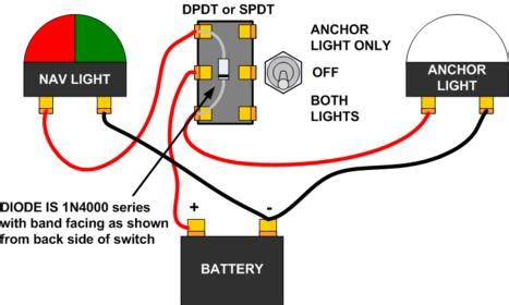 boat navigation lights wiring diagram wiring running lights to a 3 position spdt cole hersee