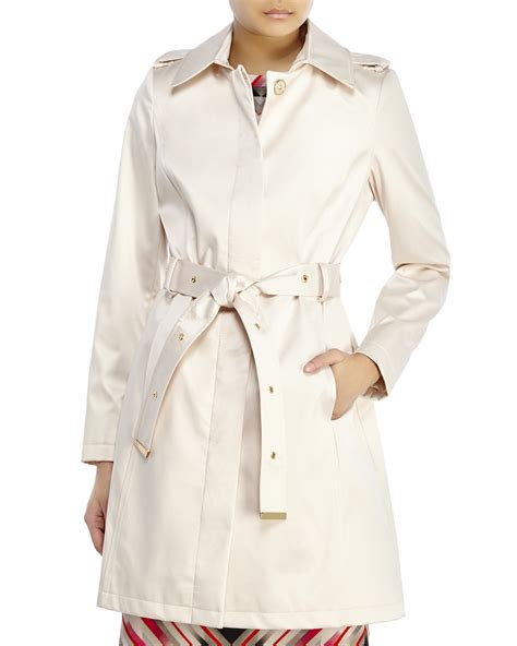 Breasted Belted Coat lyst via spiga single breasted belted trench coat in white