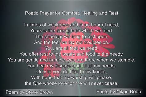 prayer for healing and comfort poetic prayer for comfort healing and rest seated above