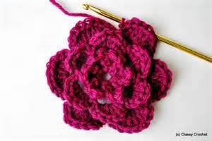 how to basic crochet flower classy crochet