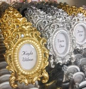 silver place settings ornate wedding decor table name wedding place card holder silver gold table number holder