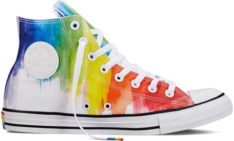 converse releases rainbow filled pride sneakers da