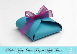 how to make a paper box template make your own paper gift box lines across