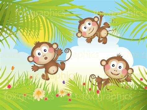 monkey background vector monkeys background fox graphics