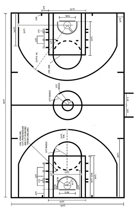 backyard basketball court dimensions nba basketball court birds eye view download image