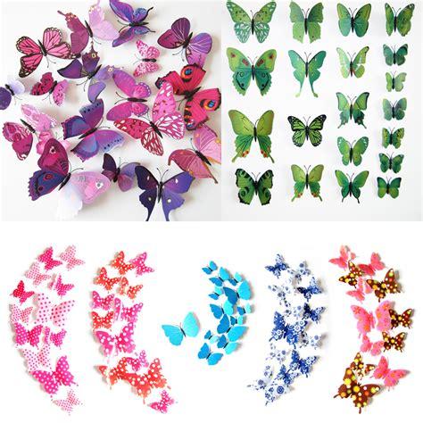 Diju H023 3d Wall Sticker Butterfly Pvc Stiker Dinding Kupu Kupu 2015 fashion 12pcs pvc 3d butterfly wall sticker decor butterflies decal stickers on