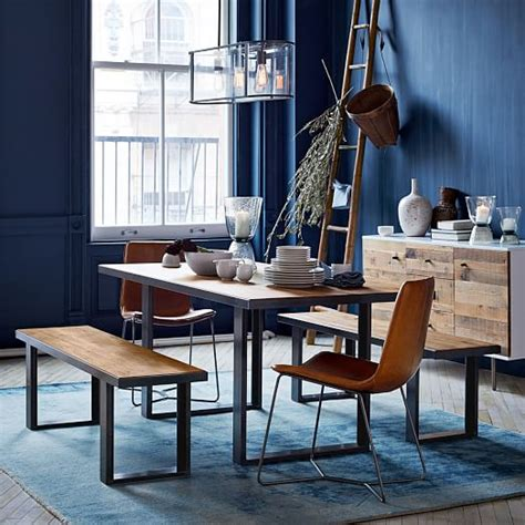 west elm dining room table industrial oak steel dining table west elm