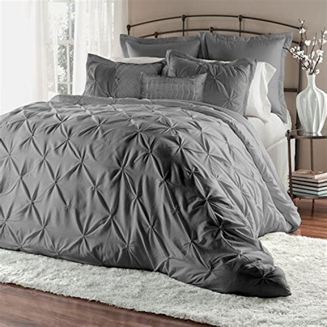 unique home 8 piece lucilla pinch pleat comforter sets bed