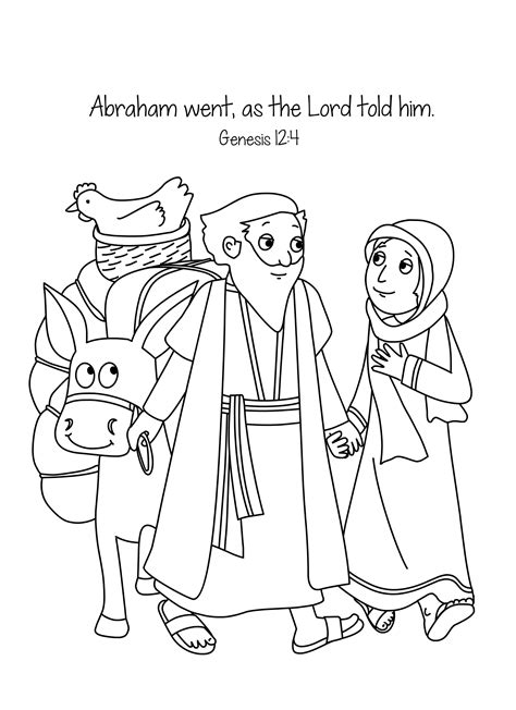 Genesis 3 Coloring Page by Abraham And A New Home Bible Lesson Bible Coloring
