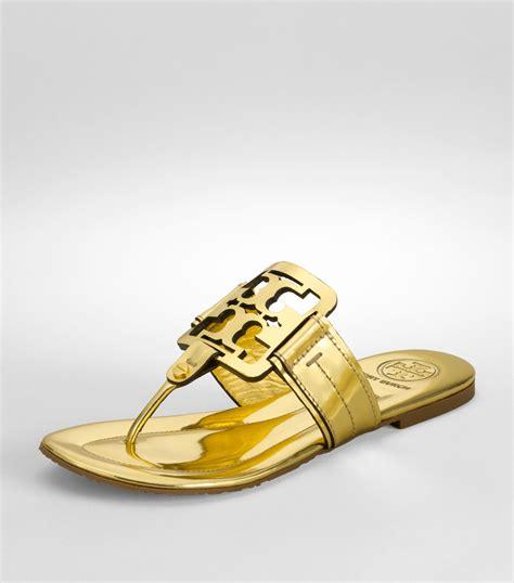 miller sandal sale burch metallic square miller sandal in gold lyst