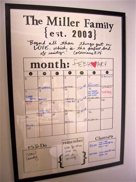 make family calendar diy erase family calendar