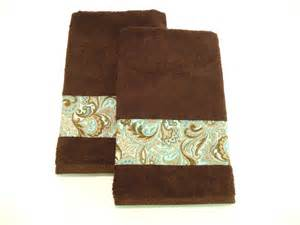 decorative bath towels brown towels teal turquoise decorative towels bath or