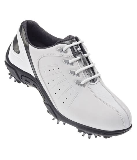 youth golf shoes footjoy junior golf shoes white silver 2014 golfonline