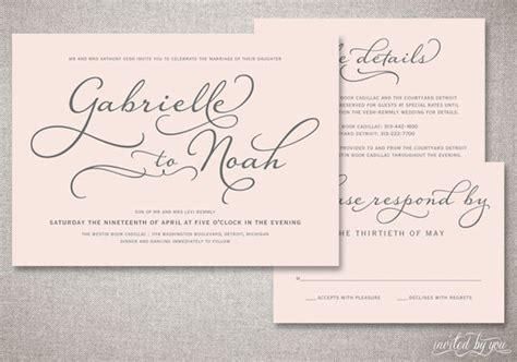 Handwritten Letter Wedding Invitation Beautiful Script Quot Gabrielle Quot Wedding Invitations Suite Handwritten Calligraphy