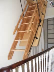 attic stairs with handrails a step in the right direction sliding loft ladders